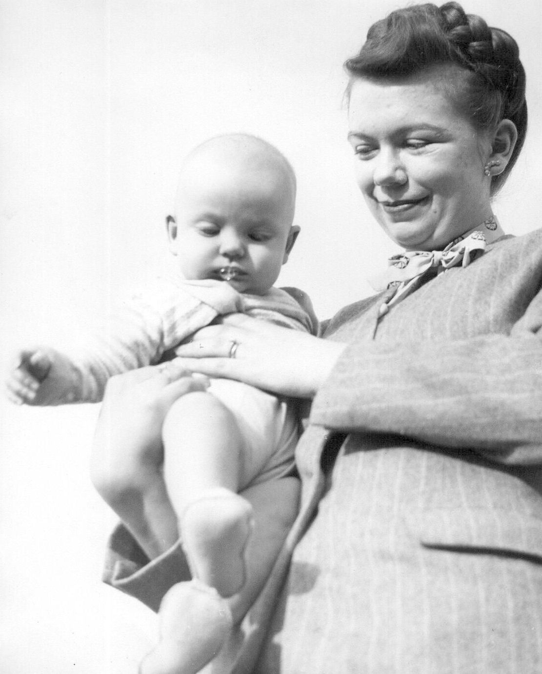 Paul and Mom, 1947