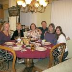 Birthday dinner: Beth, Pat (Beth's mom), Donna, Gregory, Rhoda, Taylor