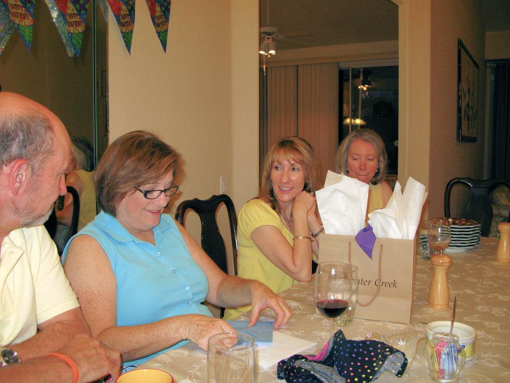 Ditalini with friends (Darrell, Lorri, Mary Anne)