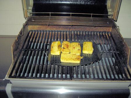 Griling the polenta