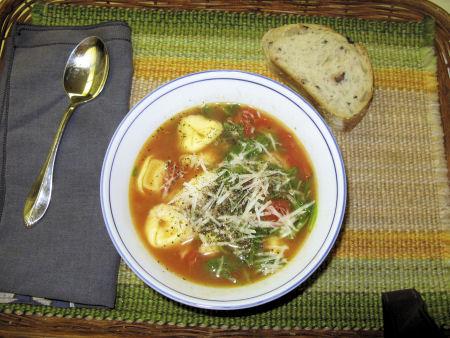 Ditalini's Tortellini & Spinach Soup
